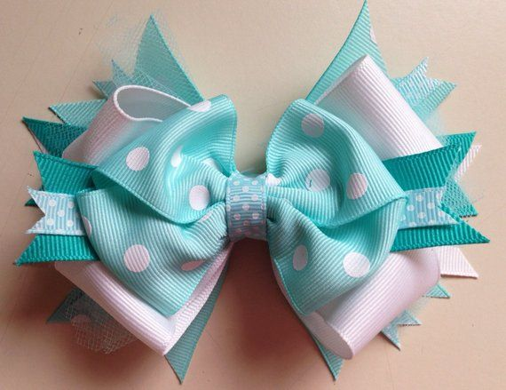 This Item Is Unavailable Etsy Blue Hair Bows Baby Hair Bows Boutique Hair Bows