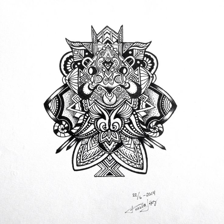 Abstract Black & White Doodle by Priscilla Lopez