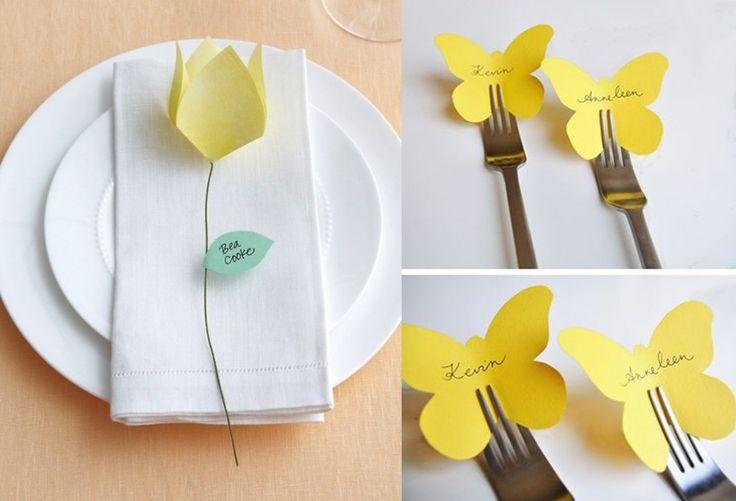 Aggiungi un (segna)posto a tavola: a cena con il DIY