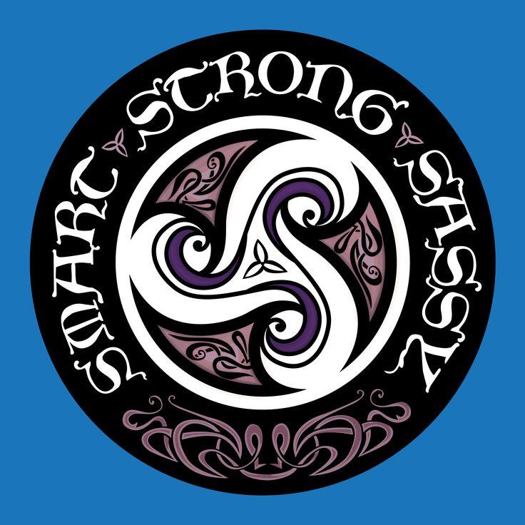 girls t-shirt illustration commission for @infinitecanvas by Inkling About Design www.inklingaboutdesign.com #celtic #triskele #smart #strong #sassy #tshirt #illustration