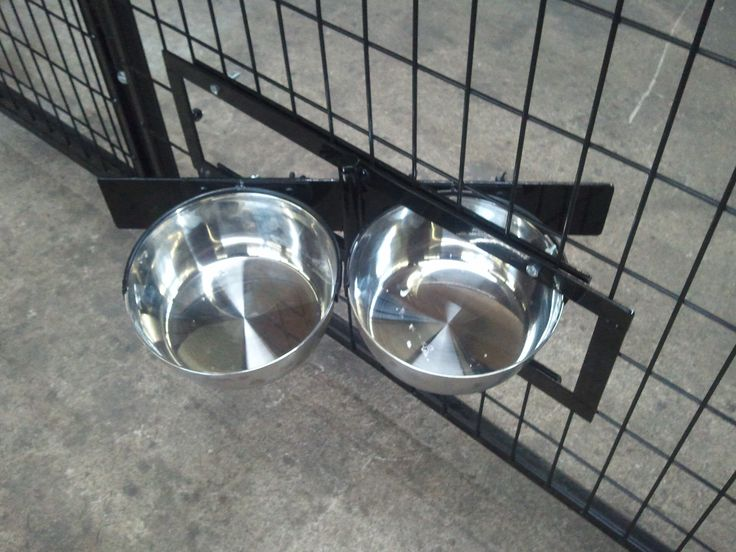 You can let your kids do the feeding of the pets without worrying about their safety or creating a mess. The swivel bowls can be pre-installed when buying a new kennel, or you can attach it to your existing kennel. Just cut off the wires in the dog run and bolt the Swivel Bowl System into place. Also, keep in mind that all of our Professional Kennels come with this system built in and no extra cost.