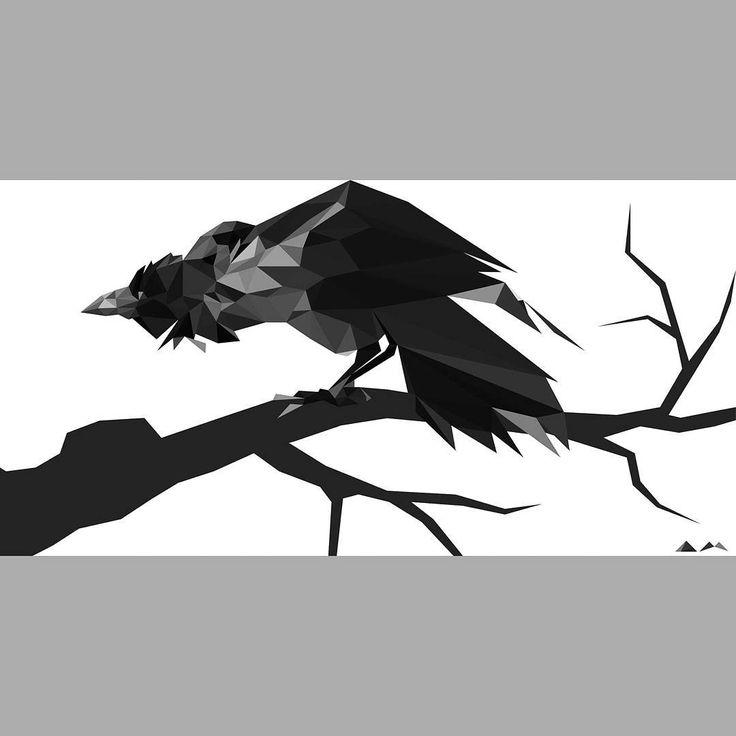 "D.Art (@d.art._)🌑🌪#illustration #art #drawing #sketch #blackandwhite #crow"""