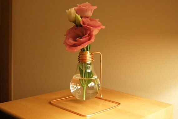 Bulb Flower Vase.  Once It was the 40 watt bulb but when it came into my hands, bulb has evolved into stylish and original vase.