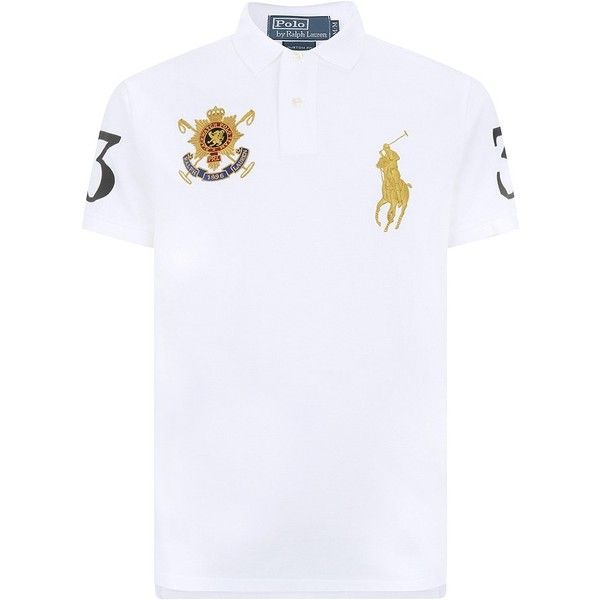 Polo Ralph Lauren Black Watch Team Polo Shirt ($160) ❤ liked on Polyvore featuring men's fashion, men's clothing, men's shirts, men's polos, white shirts, men, mens white polo shirt, men's cotton polo shirts, polo ralph lauren mens shirts and mens polo shirts