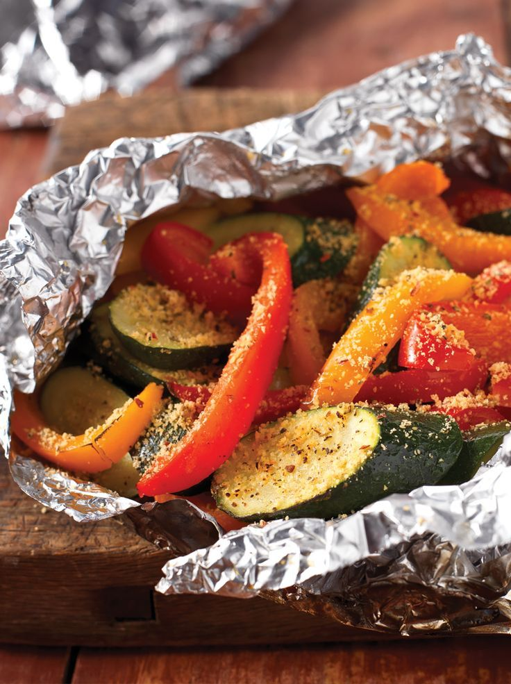 Seeking that perfect summer side dish for your next BBQ? Sprinkle parmesan and a splash of Italian dressing on some fresh veggies, tuck into a foil packet and throw on the grill. Voila! Problem solved. ;)