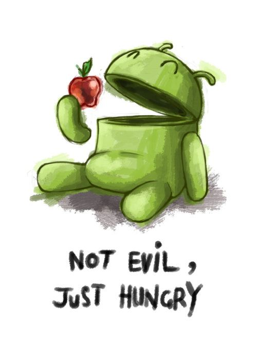 Android eats Apple > Not Evil Just Hungry :)