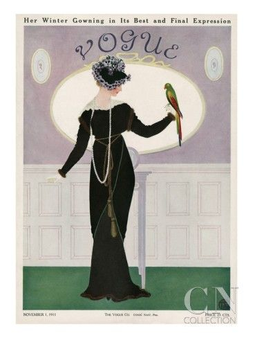 Vogue Cover, November 1911:  Fashion Illustration by Mrs. Newell Tilton - The Condé Nast Collection