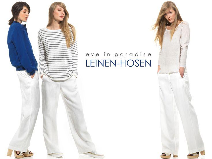 #Leinenhose kombinieren - wir zeigen euch, wie mit dem Trendteil im Handumdrehen gleich drei verschiedene #Outfits entstehen! #sommer ☺ ♡