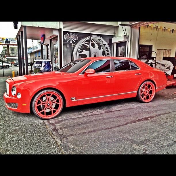 Gorgeous Custom Bentley: KEYSHIA KA'OIR In The BENTLEY MULSANNE In ATLANTA, GA