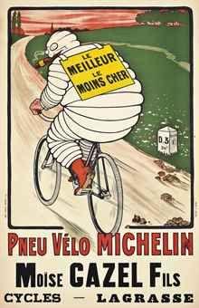 PNEU VÉLO MICHELIN -O'GALOP (MARIUS ROSSILLON, 1867-1946)