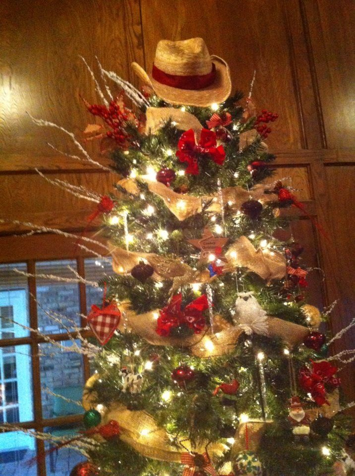 My Country Western Christmas Tree... This plus some turquoise!