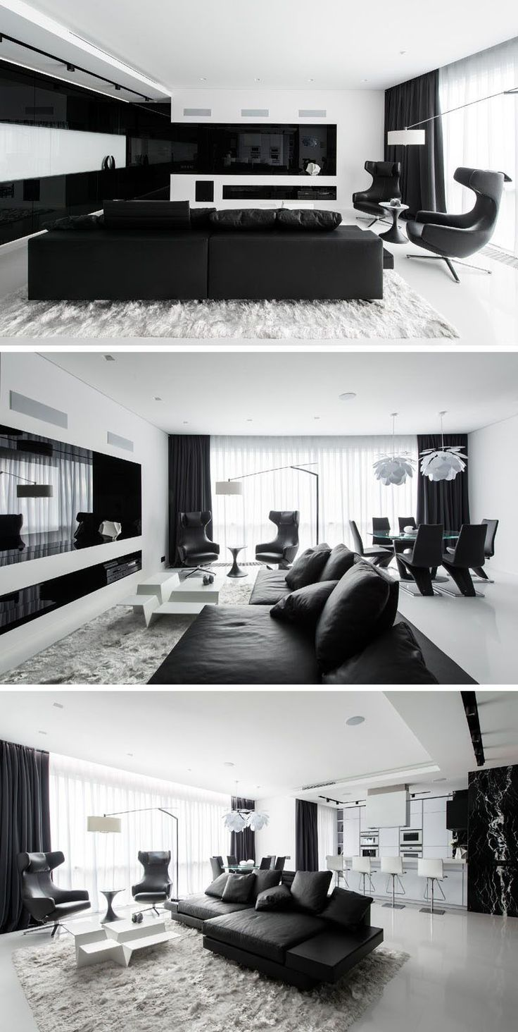 Black and white interior for bedroom in modern female apartment with - Best 25 White Apartment Ideas On Pinterest Apartment Bedroom Decor White Bedroom And Room Goals