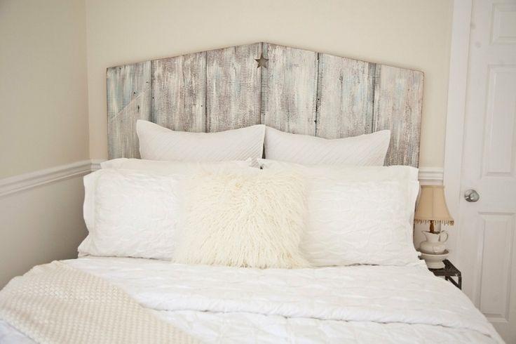 fabriquer une tête de lit en bois avec volets