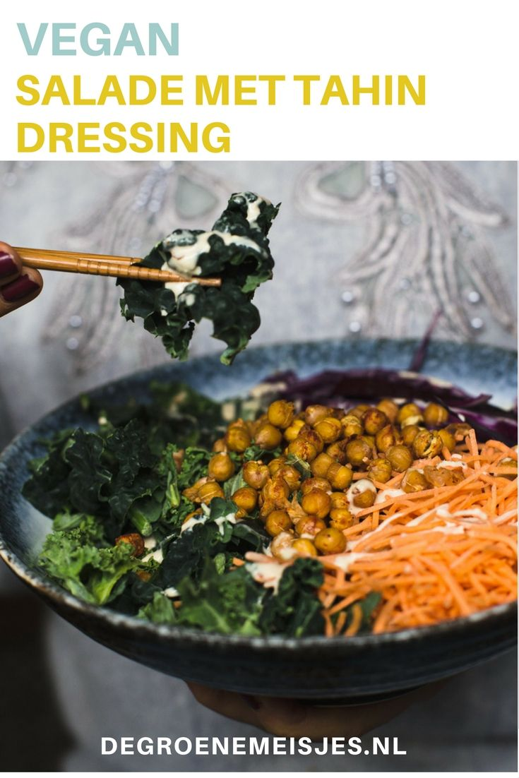 Maak deze gezonde maaltijdsalade met een tahin sesampasta dressing boerenkool en geroosterde - Maak een dressing ...