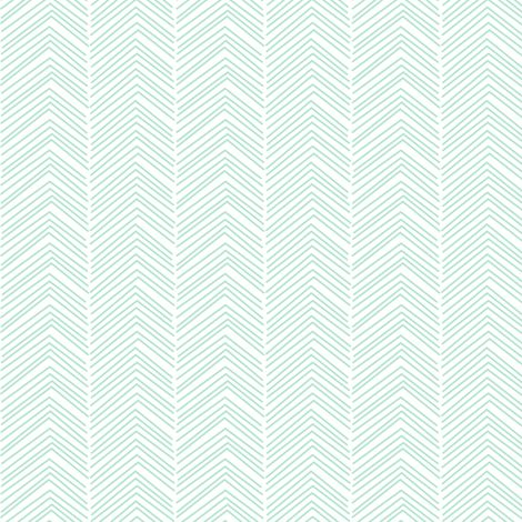 chevron ♥ mint green and white fabric by misstiina on Spoonflower - custom fabric