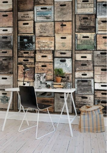 Inspiration for a DIY cubby/shelving/drawer type unit. How cool would that be?!   Pink Friday - En blogg om inredning färg design och foto.