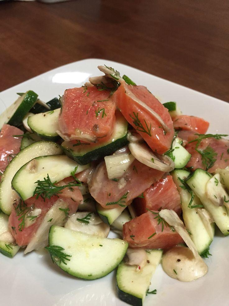 Salmon Zucchini salad