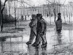 Arteeblog: Série Van Gogh - Pinturas e desenhos de chuva