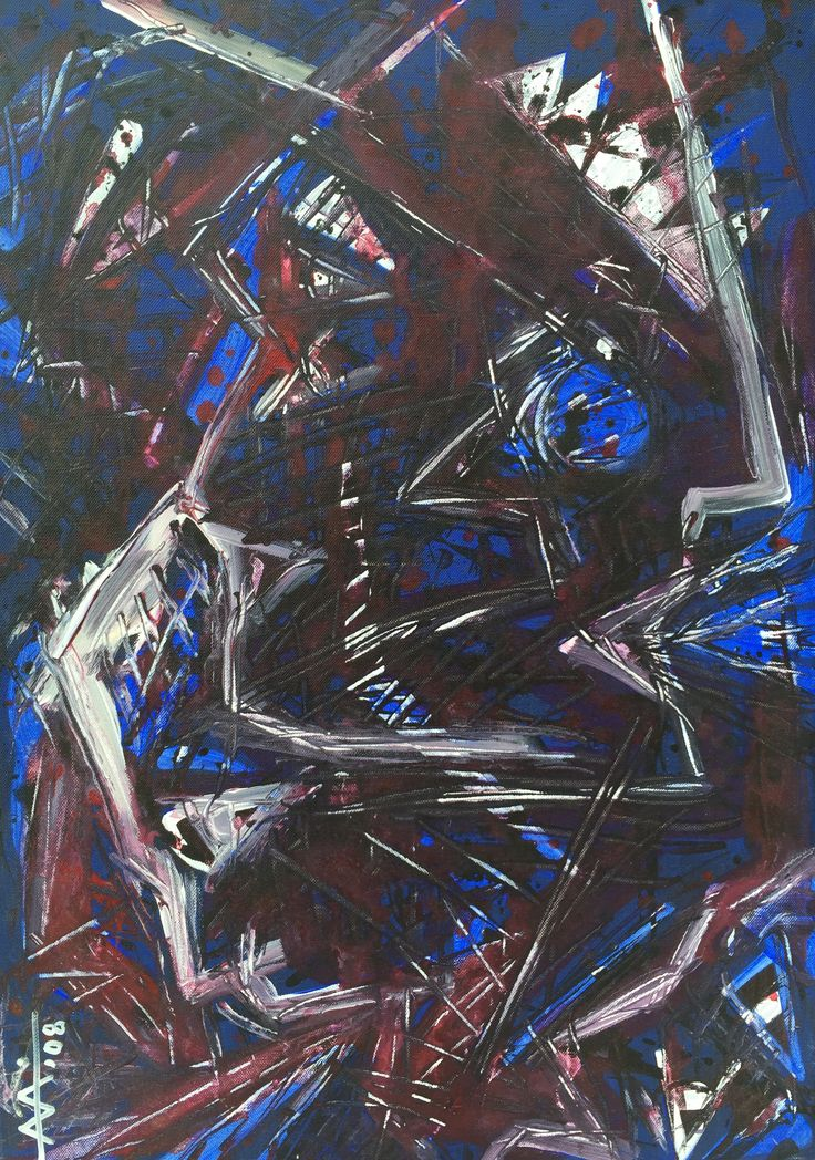 """""""Scream -Act 3"""" """" Κραυγή-Πράξη 3"""" Experimentation.Acrylic on canvas 50/70cm (2008)  Created by Anda Anastasopoulou https://www.facebook.com/Andapainting2015   https://plus.google.com/104006191383272659096/posts"""