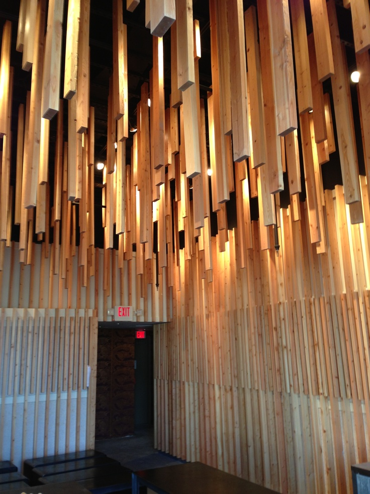 New restaurant almost finished designed with doug fir 2x4s by Frederick William Hoag Architect