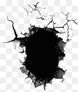 Broken Hole, Hole, Damage, Crack PNG Transparent Image and Clipart