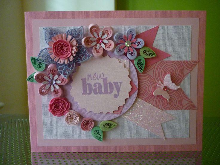 Открытки с новорожденным в технике квиллинг, открытки день рождения
