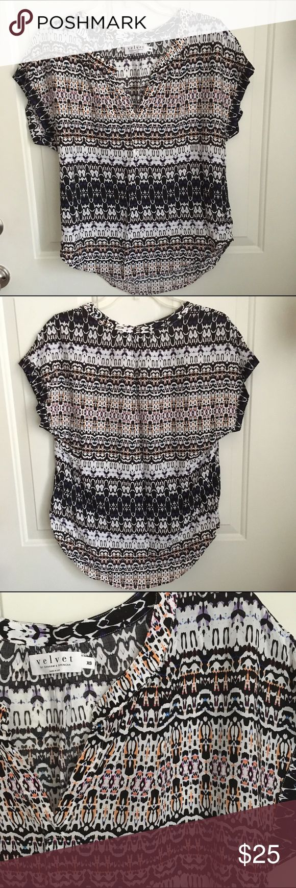 Velvet by Graham & Spencer Blouse Multi-colored, light & flowy blouse from Velvet by Graham & Spencer. Velvet Tops Blouses