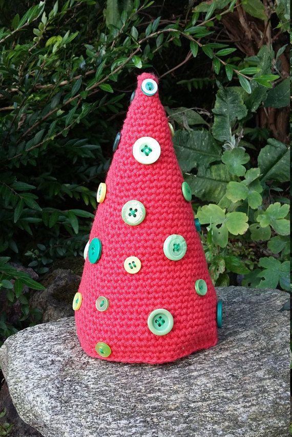 Crocheted Christmas Tree Christmas Decoration by knittyvikki