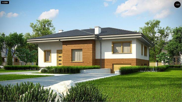 Общая площадь 213,5 м² Типовой проект дома Z337 — большой дом для небольшой семьи. По проекту стены дома выполнены из газоблока, а перекрытия — монолитные.