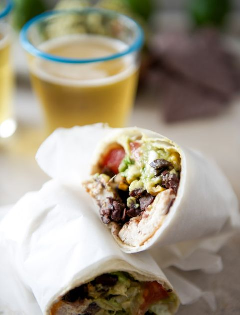 Tequila Lime Chicken and Black Bean Burritos I howsweeteats.com