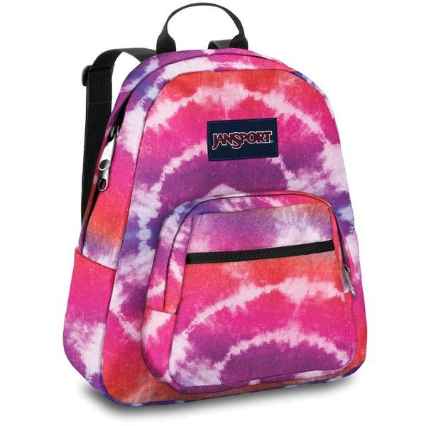 Jansport - Half Pint Backpack In Pink Prep Hippy Skip ($25) ❤ liked on Polyvore featuring bags, backpacks, backpack bag, rucksack bag, jansport, hippie backpack and hippie bag