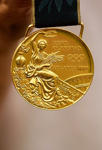 https://flic.kr/p/aevXK | Olympic Gold Medal | Lisa Fernandez' Olympic Gold Medal for Softball from the 1996 Athens Summer Olympic Games.