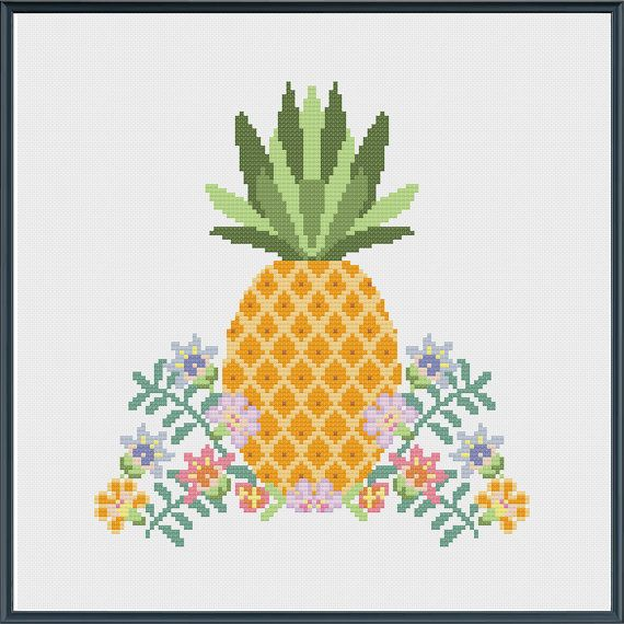 Aloha! Life is sweet if youre a pineapple. This bright and cheerful cross stitch pattern uses a variety of coloured threads but you could use any colours that fit your style. Try stitching it on black cloth for added drama! This pattern uses the just basic cross stitch and is suitable for beginners . If you need any help with how to follow the pattern, just get in touch. This is a downloadable PDF cross stitch pattern. Once you order you can down load the file which is easy to follow and…