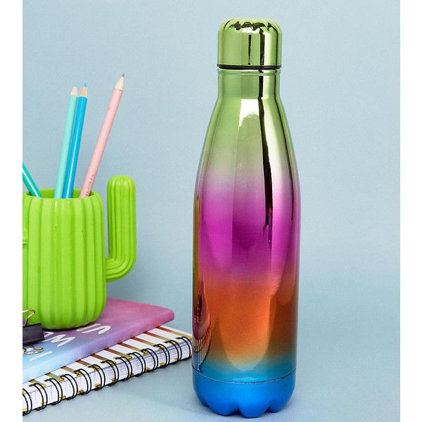 KADO Iridescent Water Flask (295 MXN) ❤ liked on Polyvore featuring home, kitchen & dining, bar tools and multi