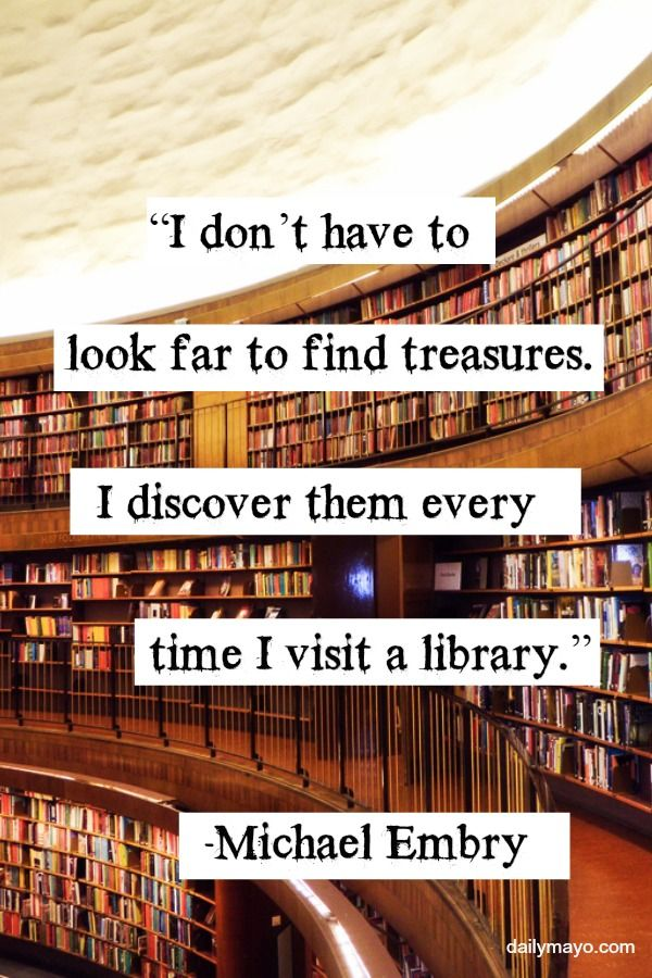 In honor of National Library Lover's Month, today we are celebrating with quotes about libraries!