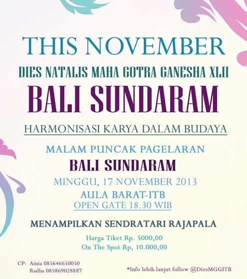 Malam Pagelaran Bali Sundaram