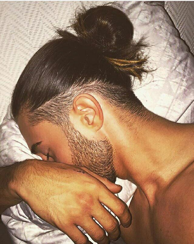 What does it say about me that the closest cut I can find is on a dude with a manbun?