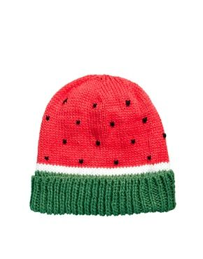 Image 2 ofASOS Watermelon Beanie