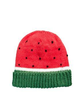 ASOS watermelon beanie