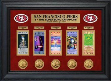 Buy San Francisco 49ers Super Bowl Framed Ticket and Game Commemorative Coin Collection - Highland Mint LIMITED EDITION NFL Football Collectible - Great Sports Gift! in Cheap Price on m.alibaba.com