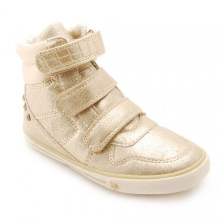 Azalea, Gold Girls Riptape Casual Shoes - Girls Boots - Girls Shoes http://www.startriteshoes.com/girls-shoes/boots/azalea-gold-girls-riptape-casual-shoes