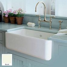 "View the Rohl RC3018 30"" Handcrafted, Single-Basin, Fireclay, Apron-Front Farmhouse Kitchen Sink from the Shaws Original Series at FaucetDirect.com."