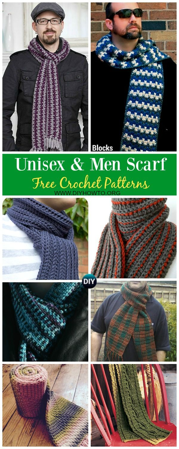 Collection of Unisex & Men Scarf Free Crochet Patterns: crochet ...