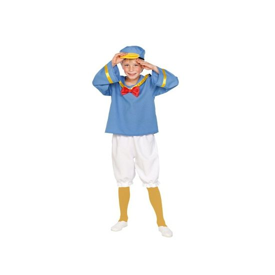 Matrozen eend kostuum voor kinderen. Dit matrozen eend kostuum voor kinderen bestaat uit een broek, shirt en muts. Carnavalskleding 2015 #carnaval