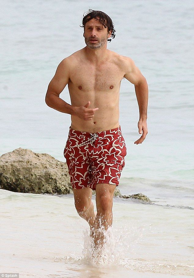 Andrew Lincoln (Rick Grimes) on vacation Aug 2013 in Caribbean #TheWalkingDead #AndrewLincoln