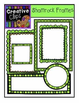 Free Shamrock Frames! Enjoy this collection of colorful, green frames for St. Patrick's Day!