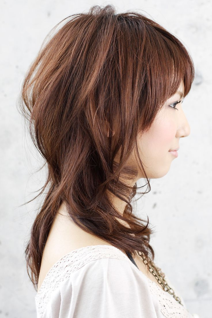 Medium Layered Hair Side.