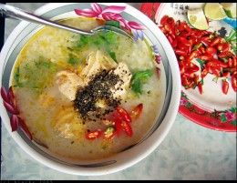 Vietnamese Chicken Rice Soup/Porridge Recipe (Chao Ga)