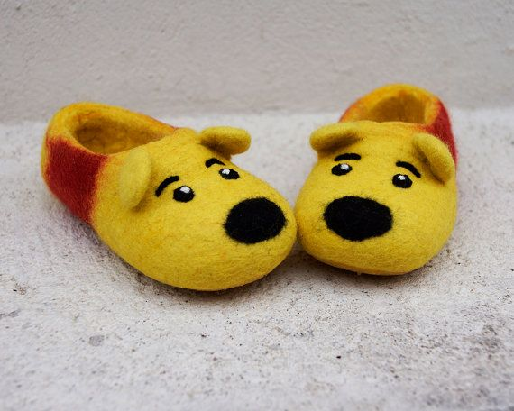 Felted slippers for kids // Toddler by LittleEwesFriend on Etsy, $55.00