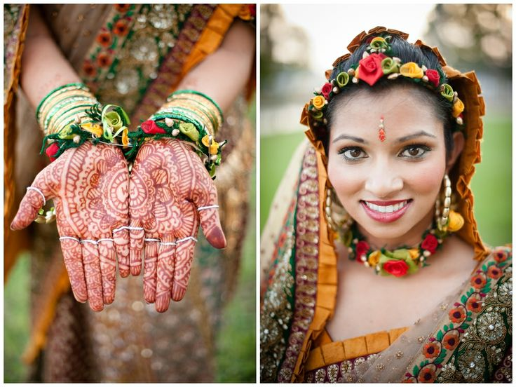 Mehndi Flower Jewellery In : Best floral indian jewelry images flower